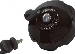 Lockable gas cap