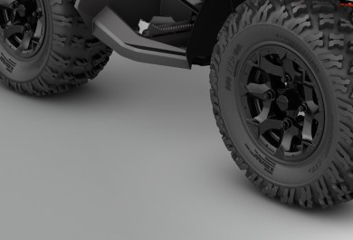 VERSATILE TIRES ON RUGGED WHEELS